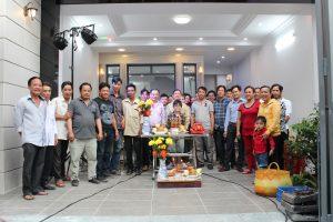 Tiệc mừng công nhà ở 4 tầng kdc Trung Sơn