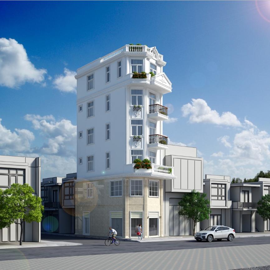 Dự án nhà phố 6 tầng tân cổ điển
