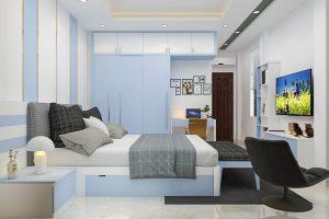 Dự án nhà phố 6 tầng đẹp - Phòng ngủ 1